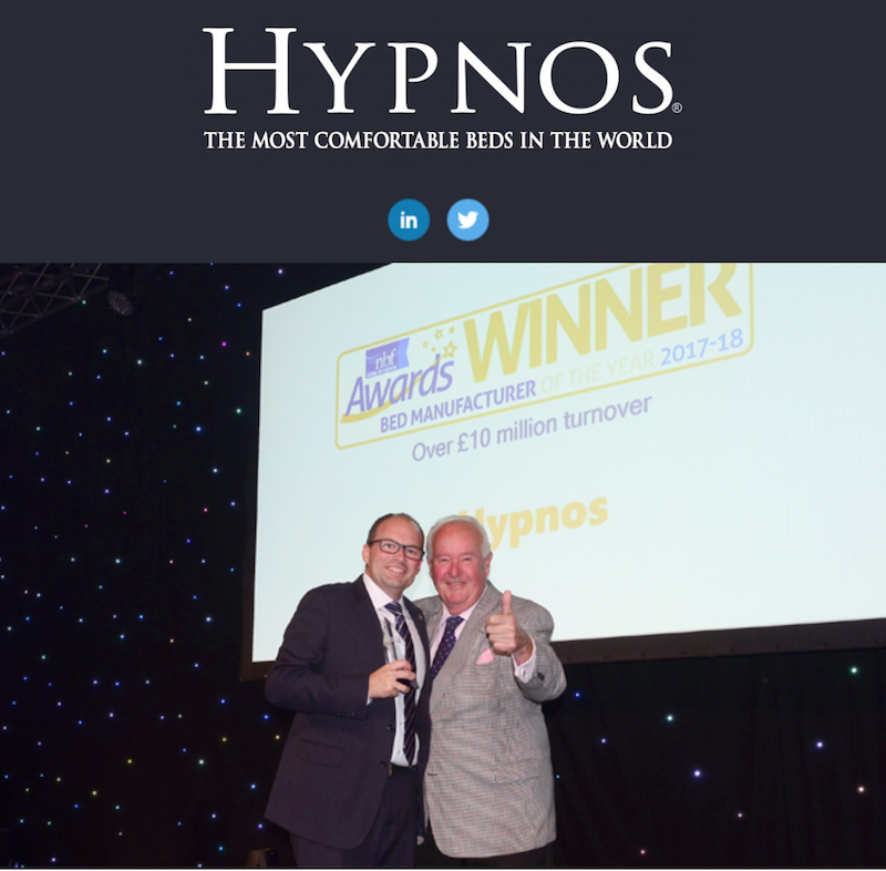 Hypnos voted Bed Manufacturer of the Year